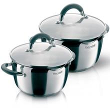Набор посуды Rondell Flamme 4 предмета RDS-339 (Нержавеющая сталь, внутренние отметки литража, подходит для всех видов плит, подходит для посудомоечной машины)