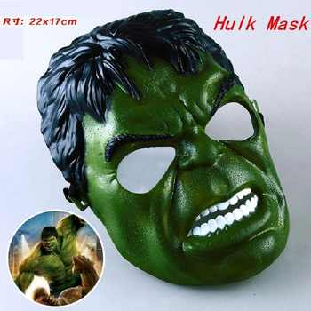 5Pcs/lot Marvel Movie Masks Avengers Hulk Captain America Batman Spiderman Ironman Party Mask Boy Gift Action Figures Toys #E