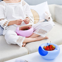 Food Double Layer Dry Fruit Containers Snacks Seeds Storage Box Garbage Holder Plate Dish Multifunctional Plastic