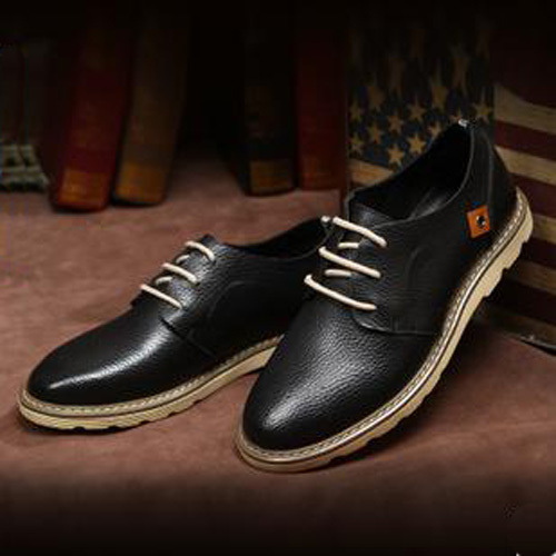 2015 spring new meaning gooch fashion men flats casual men leather