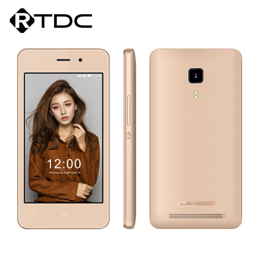 New Original Leagoo Z1c Quad Core 1.3GHz 3.97''HD 800x480 Android 6.0 512MB RAM 8GB ROM 3.0MP 1400mAh 3G WCDMA Mobile Phone