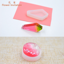 Flower Invitation  DIY Silicone Geometric Pendant Mold 5pcs/set For Epoxy Resin Jewelry Making Handmade Craft