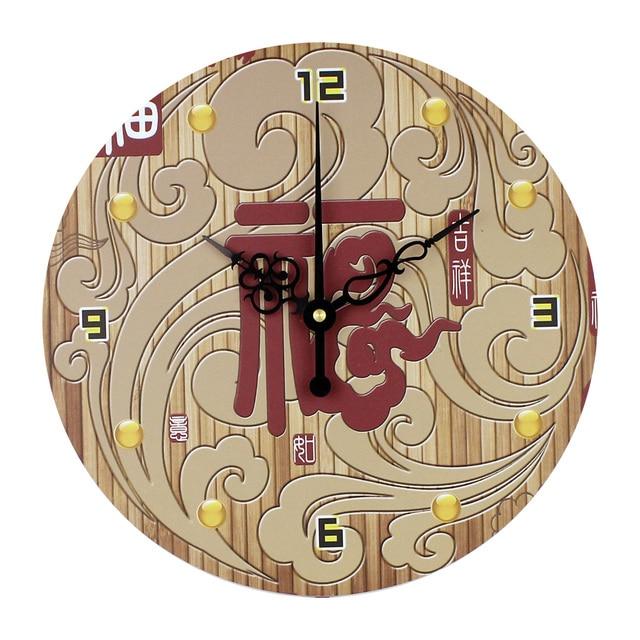 silencieux antique chinois horloges design moderne horloge murale decoration salon mur montres unique mur horloges duvar