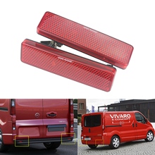 ANGRONG Car Accessories Tail Light Bars Red Lens Rear Bumper Reflector For Vauxhall Opel Nissan Renault Master Trafic