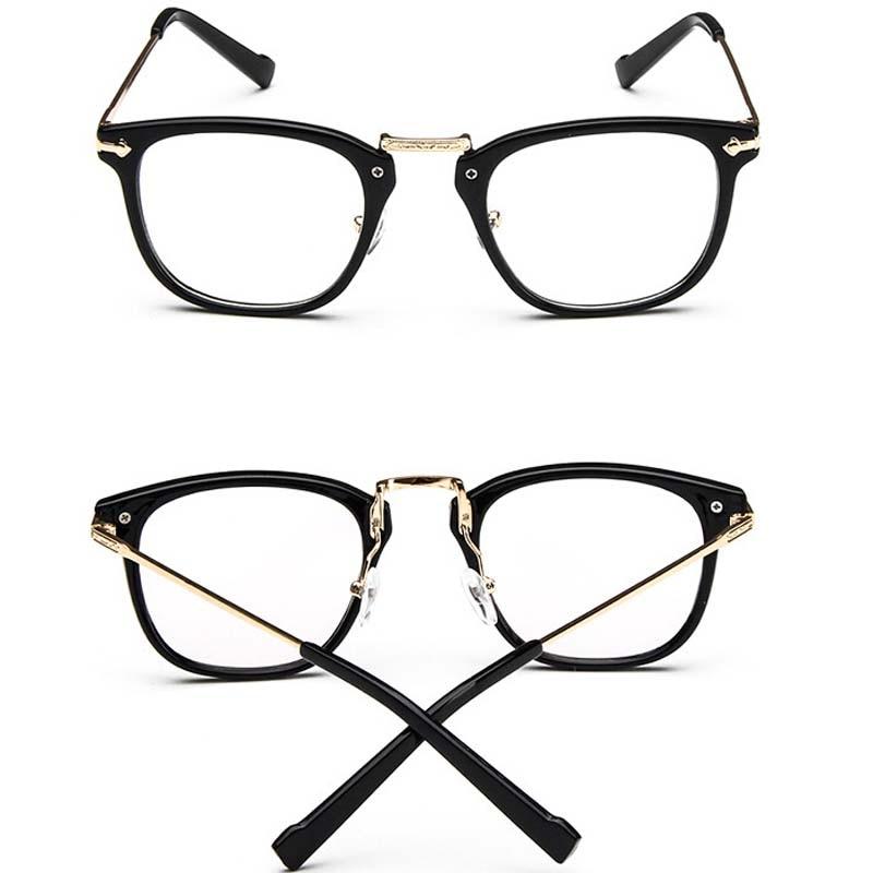 stylish frames for men's glasses wxsv  New 2017 Stylish Literary Retro Arrow Metal Glasses Frame Slim Face Glasses  Men Women Eyewear Frame Transparent Lense Eyeglasses-in Eyewear Frames from