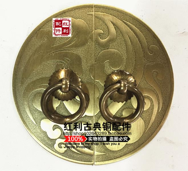 Classical Chinese furniture of Ming and Qing Dynasties antique bronze bonus copper fittings copper lock door handle new Chinese chinese folk classical bronze desert twin peaks camel llama statue