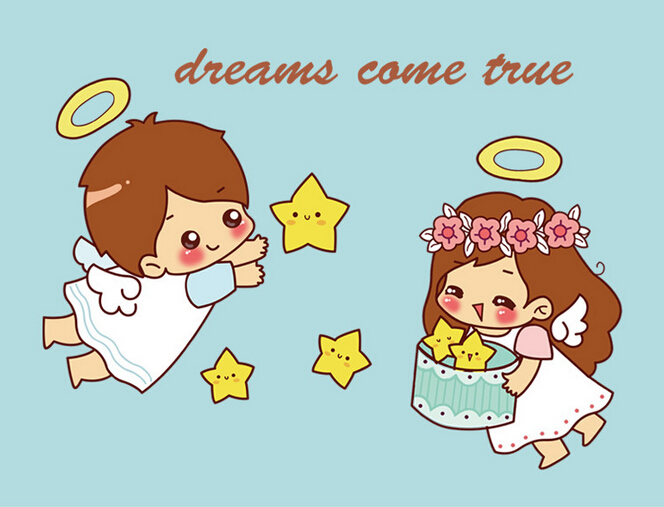 Free Shipping Angel Girl Vinyl Wall Stickers For Kids Rooms Girls Home Decor Living Room Sofa