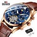 Мужские часы HAIQIN  автоматические водонепроницаемые механические часы с турбийоном  2019