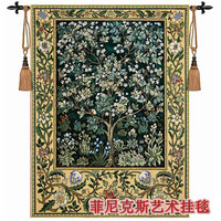 Extra large 197X139cm William Morris tree green Art tapestry wall hanging Decorative Jacquard Home textile products H110