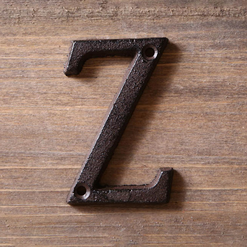 A To Z ,0 To 9 Metal Letters & Numbers Cast Iron Decoration House Sign Doorplate DIY Cafe Wall  8cm Wrought Iron  Letter  Signs