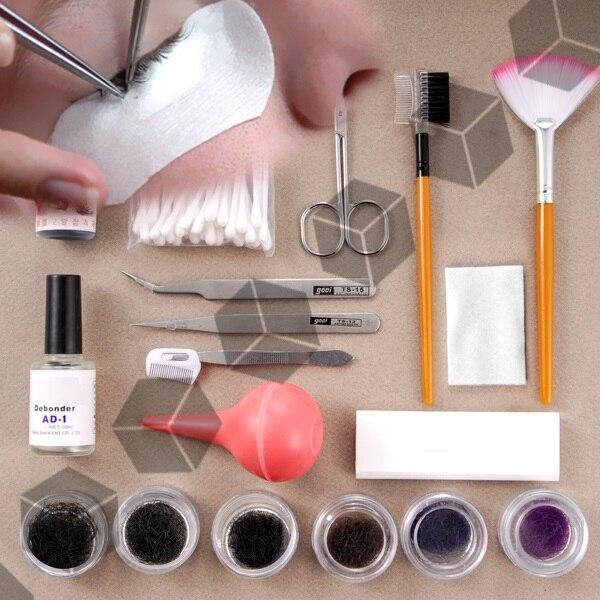 Профессиональный Поддельные Накладные ресницы расширение комплект составляют косметический