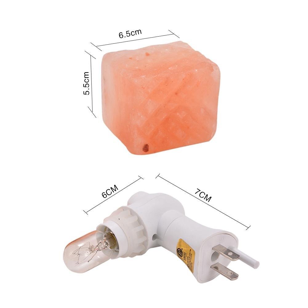 LumiParty Litake 15W Salt Lamp Himalayan Glow Hand Natural Crystal Salt Lamp Night Light Wireless Replaceable Bulb