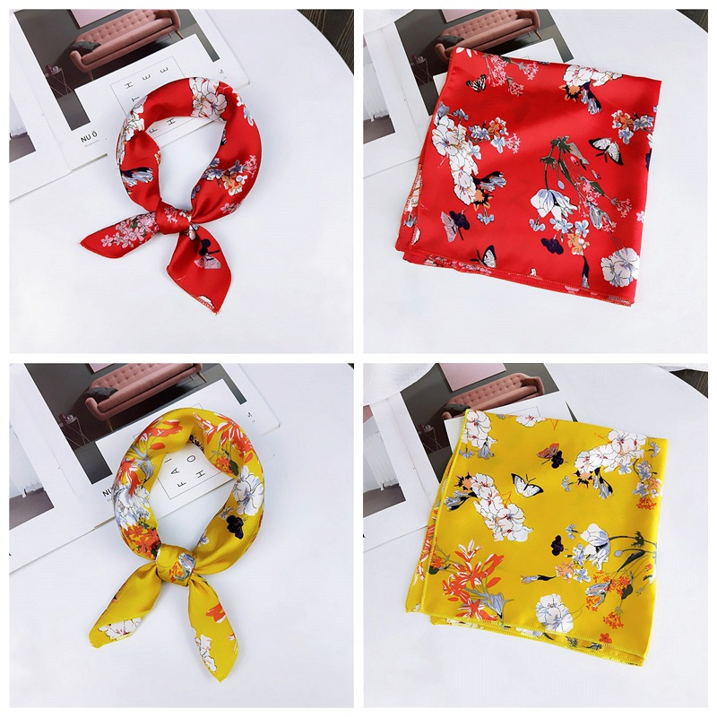 HTB147wqbovrK1RjSszfq6xJNVXaF - fashion Square Scarf Hair Tie Band Party Women Elegant Small Vintage Skinny Retro Head Neck Silk Satin Scarf, square scarves