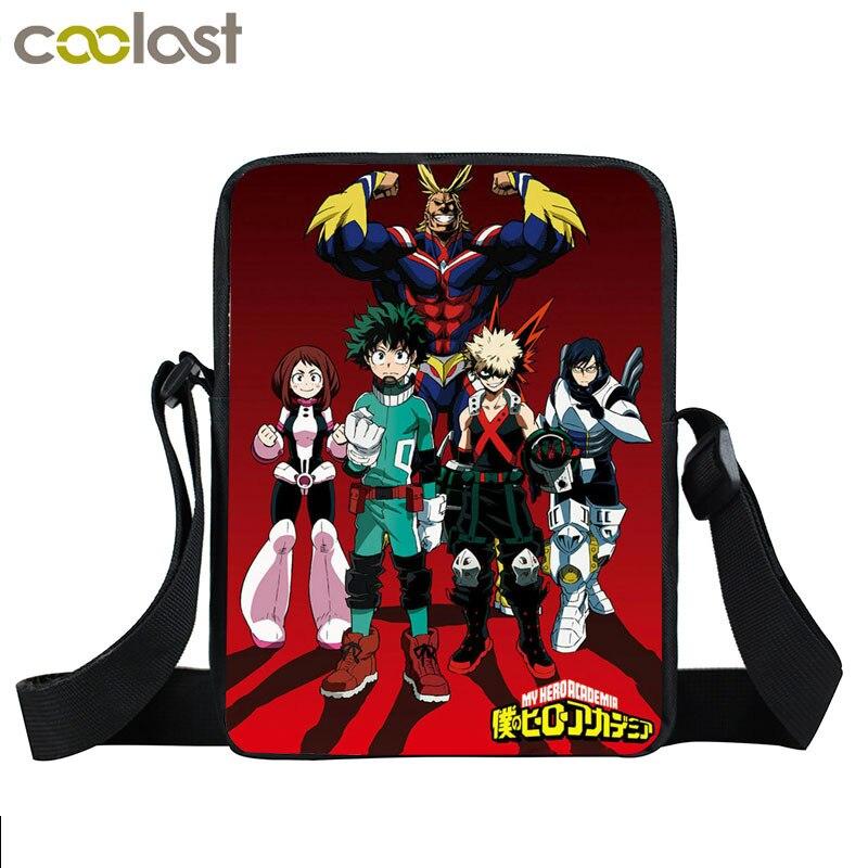 Anime Boku no Hero Academia mini messenger bag  Izuku Midoriya bakugou katsuki crossbody bag My Hero Academia shoulder Bags