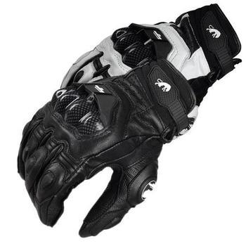 Gorąca sprzedaż! Furygan AFS 6 skórzane rękawice motocyklowe moto gp BMX rękawice Downhill rękawice rowerowe rękawice rajdowe rowerowe tanie i dobre opinie Unisex Skóra Z pełnym palcem Gloves