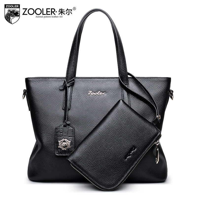ZOOLER Women Genuine Leather Handbag Cowhide Embossed Composite OL Fashion Tote Bag Business Messenger Shoulder Bags Sac A Main 2016 women leather handbag women messenger bag sac a main brand designs women shoulder bag fashion weaving tote bag purse 3 sets