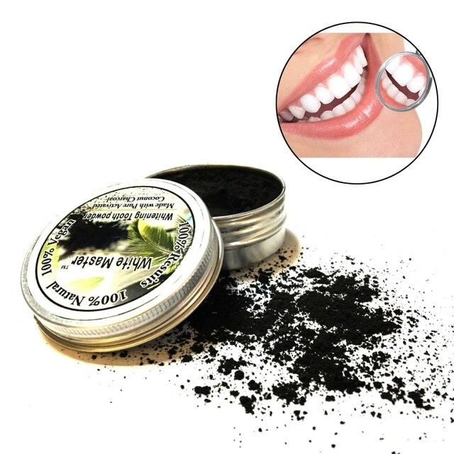 Pasta de dientes de bambú natural polvo de dientes de carbón activado Placa de limpieza Tartar eliminación de manchas de café