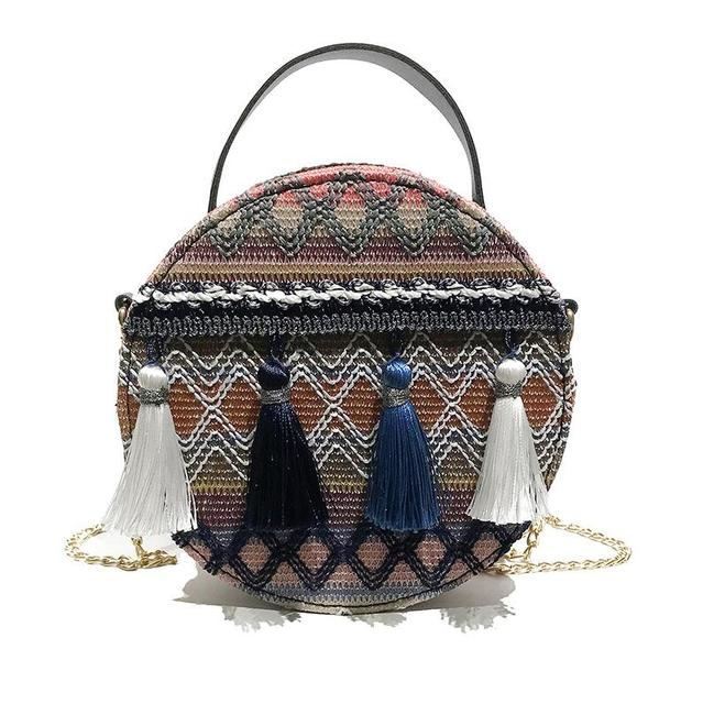 Embroide Bag Round Metal...