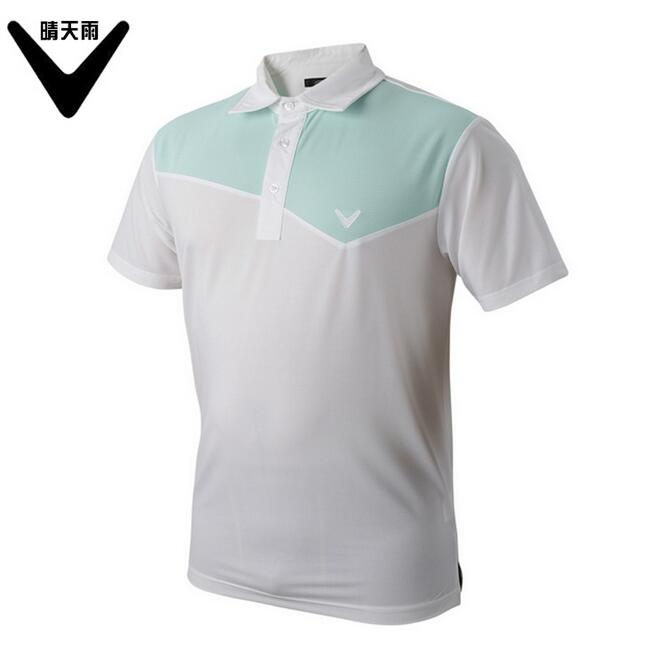 CALLAWAV Mens Golf T-shirt short sportwear outdoor Shirts summer Quick-dry breathable Splicing color Golf Shirts
