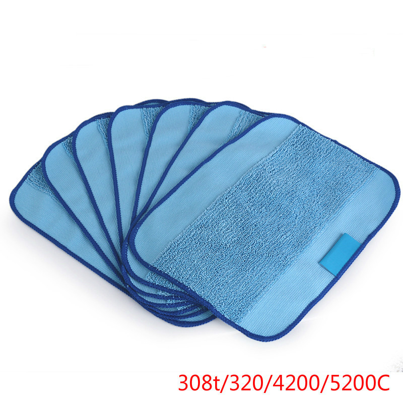 Wet Microfiber Mopping Cloths Washable&Reusable Mop Pads Fits iRobot roomba  For Braava Jet iRobot 380t/320/4200/5200C N20CWet Microfiber Mopping Cloths Washable&Reusable Mop Pads Fits iRobot roomba  For Braava Jet iRobot 380t/320/4200/5200C N20C
