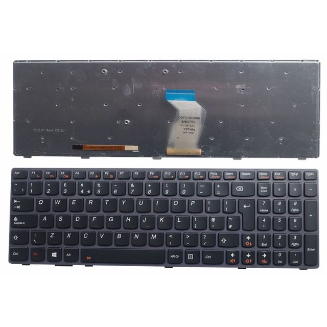 UK Backlight New English Replace laptop keyboard For Lenovo Y580 Y580N Y580A Y590 Y590N Black