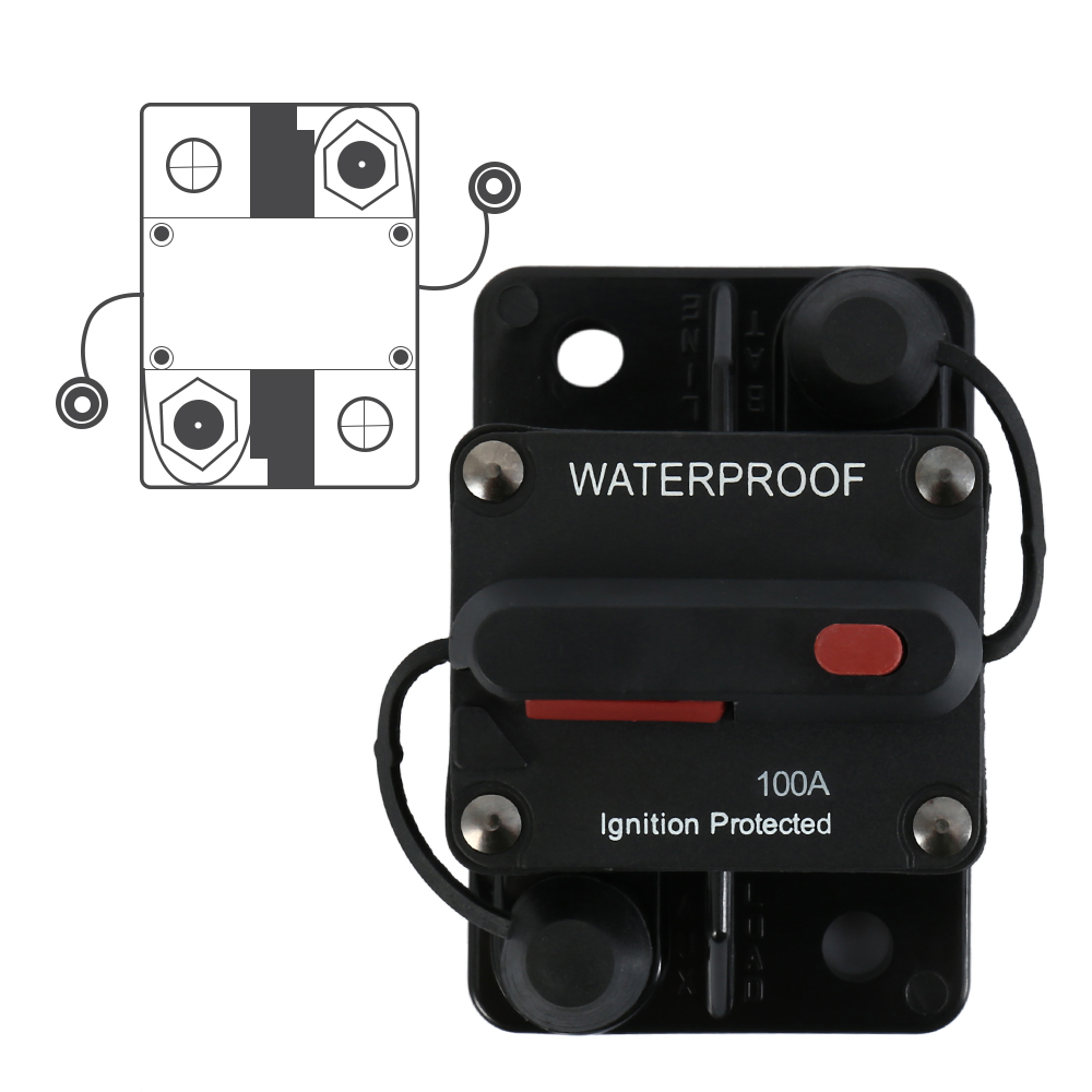 48v Dc 50 100 150 Amp Car Truck Rv Bus Marine Boat Circuit Breaker Fuse Box 100a Dual Battery Ip67 Waterproof 12v 24v Manual Reset