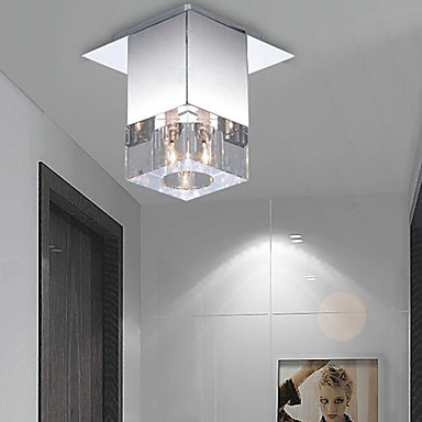 Flush Mount Modern LED Crystal Ceiling Lamp Lights With 1 Light For Living Room Free Shipping