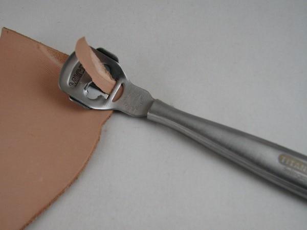Diy handmade leather tool peeler knife thin