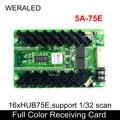 Цветной свет 5A-75E полноцветная синхронная приемная карта с 16xHub75E портами поддержка 1/32 сканирования узких пикселей P2 P3 светодиодный модуль