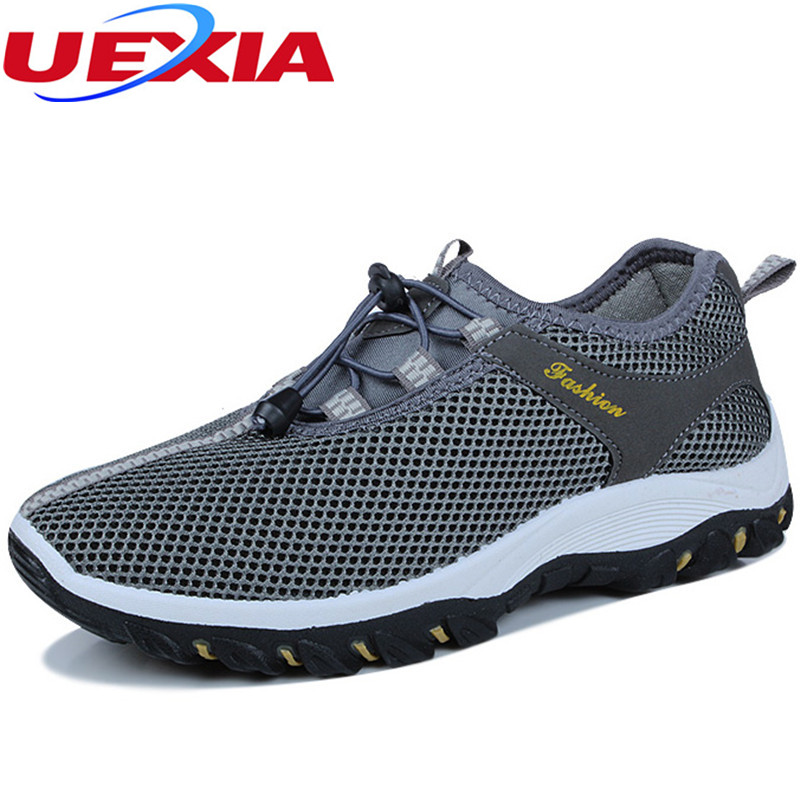 2017 Summer Mesh Outdoors Men Casual Shoes Flat Breathable Hollow Rubber Sole Non-slip Soft Walking Zapatillas Deportivas Hombre france tigergrip waterproof work safety shoes woman and man soft sole rubber kitchen sea food shop non slip chef shoes cover
