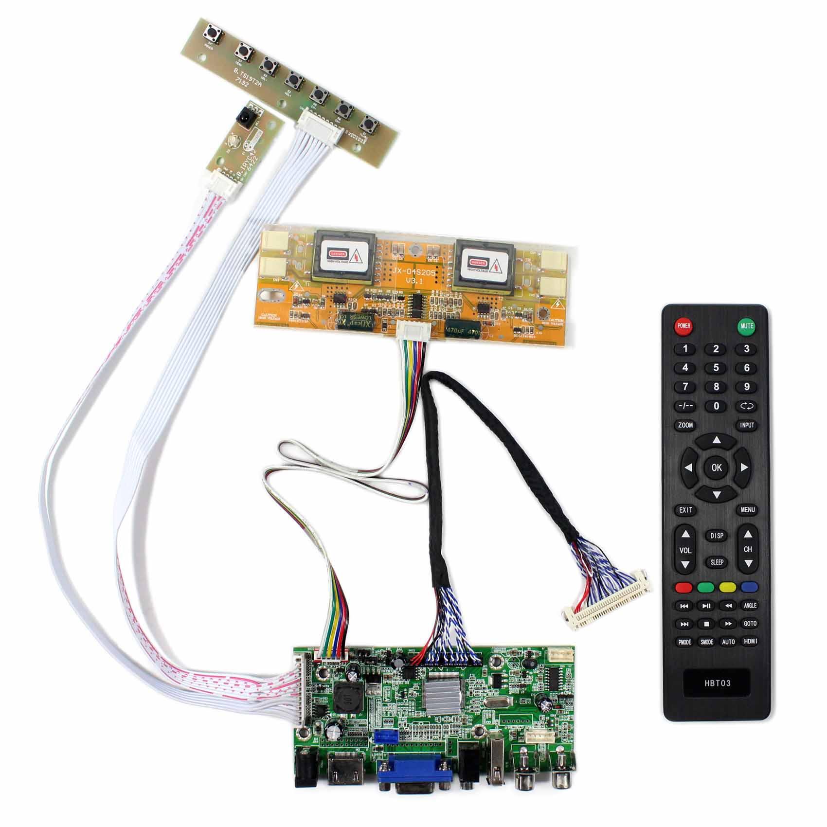 HDMI + VGA + 2AV + USB + аудио ЖК-дисплей плате контроллера для 17 дюймов 19 дюймов 1280x1024 m170EG01 LM190E02 ЖК-дисплей Экран