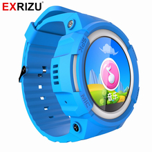 EXRIZU V12 Child GPS Smart Watch Baby Watch OLED Screen Emergency Call Location Device Tracker for Kid Safe Anti Lost Smartwatch