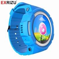 Exrizu v12子gpsスマート腕時計ベビーウォッチoledスクリーン緊急コール位置装置トラッカー用キッドセーフアンチ失ったスマートウォッチ
