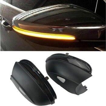LED Che Scorre Specchietto retrovisore Girare luce Per VW Passat B7 CC Jetta MK6 Beetle Scirocco