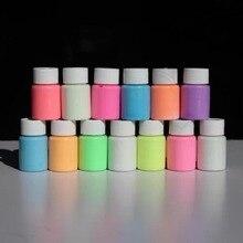 Случайный цвет 13 цветов Сделай Сам эко нетоксичный запах бесплатно водонепроницаемый граффити краска светящийся акриловый светится в темноте пигмент вечерние стены