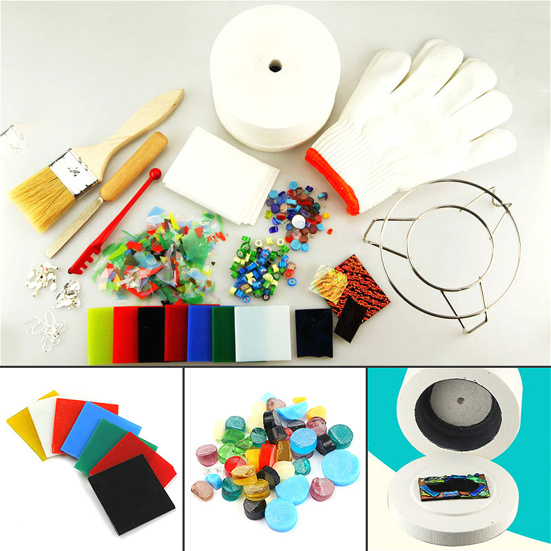 15pcs Arts crafts sewing DIY jewelry tools supplies making large microwave kiln set fusing glass kilns for ceramic accessories