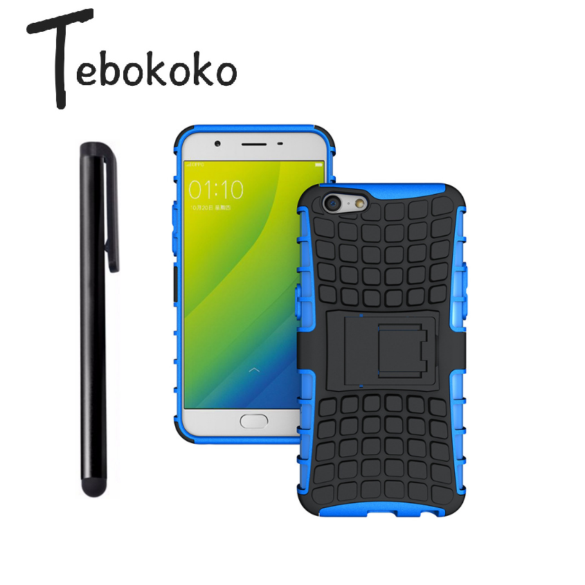 Tebokoko Phone Case for OPPO A37 Cover for OPPO Neo 9 Case Rugged Hybrid Kickstand Skin Shockproof Armor