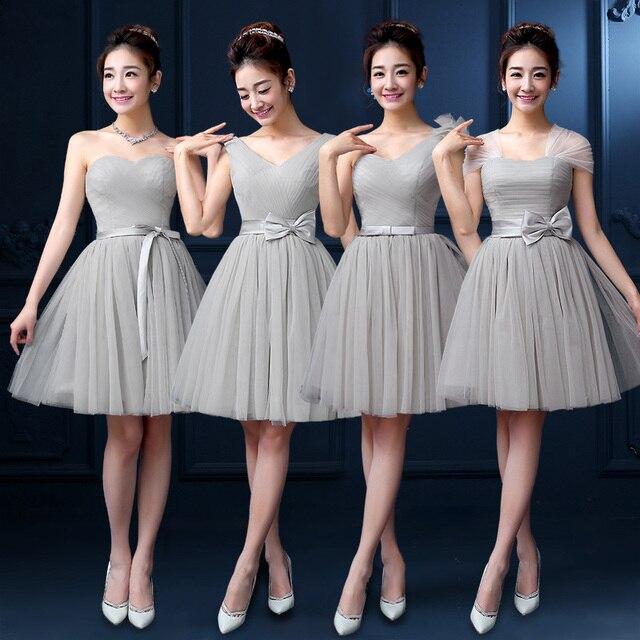 47d2c3f23 Vestidos para damas de honor gris - Vestidos elegantes 2019