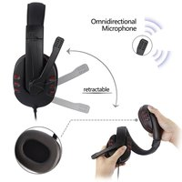 10PCS Leather USB Wired Stereo Micphone Headphone Mic Headset for Sony PS3 PS4 PC Game