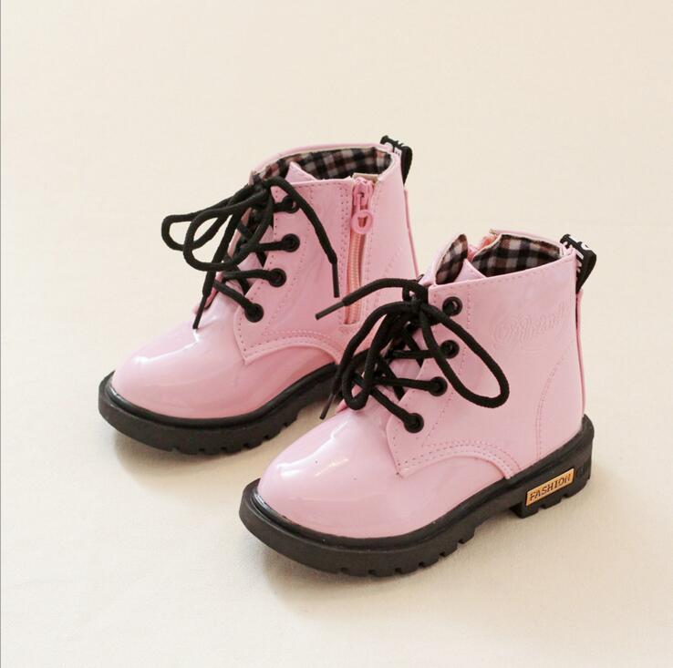 Buty skórzane Qloblo dla dzieci Buty męskie Martin dla kobiet - Obuwie dziecięce - Zdjęcie 2