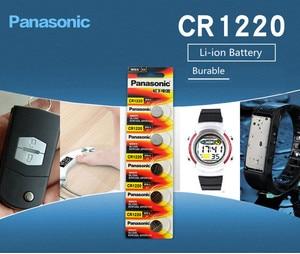 Image 4 - Panasonic pilas de botón CR1220 CR 1220 3V, 5 unidades/lote, batería de litio BR1220 DL1220 ECR1220 LM1220