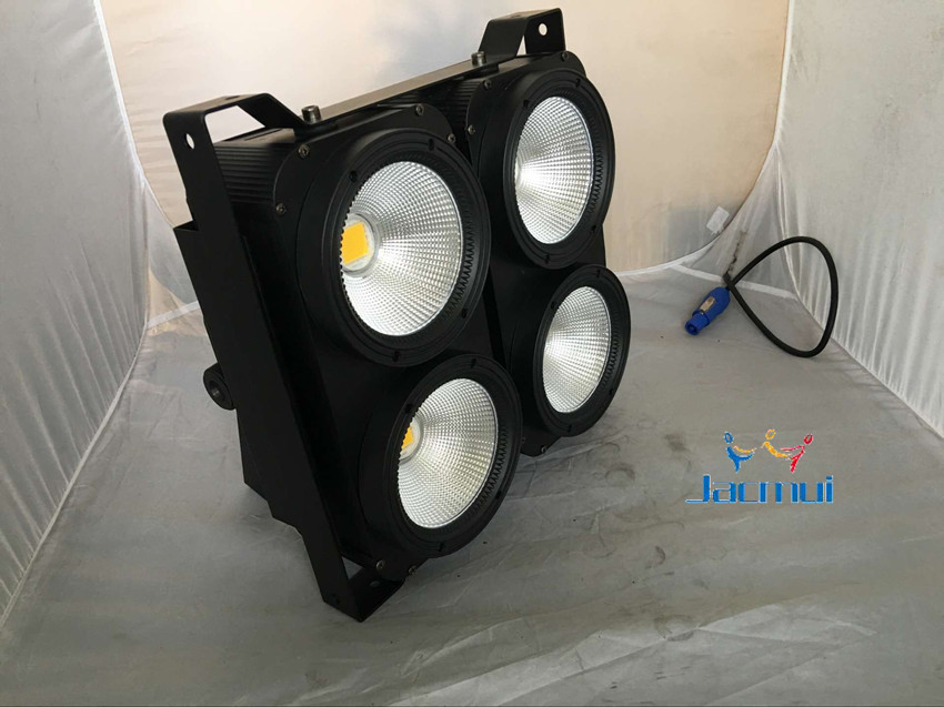 4*100w  LED COB Audience  light  WY 2in1 color led  blinder light /stage light  wash effect for dj disco club audience powerchord schuko 2 m