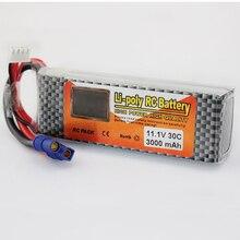 Литий-полимерный Мощность Lipo Батарея 11,1 В 3000 мАч 3 S 30C EC3 разъем для лезвия 350QX/450 RC helicoper Drone Bateria