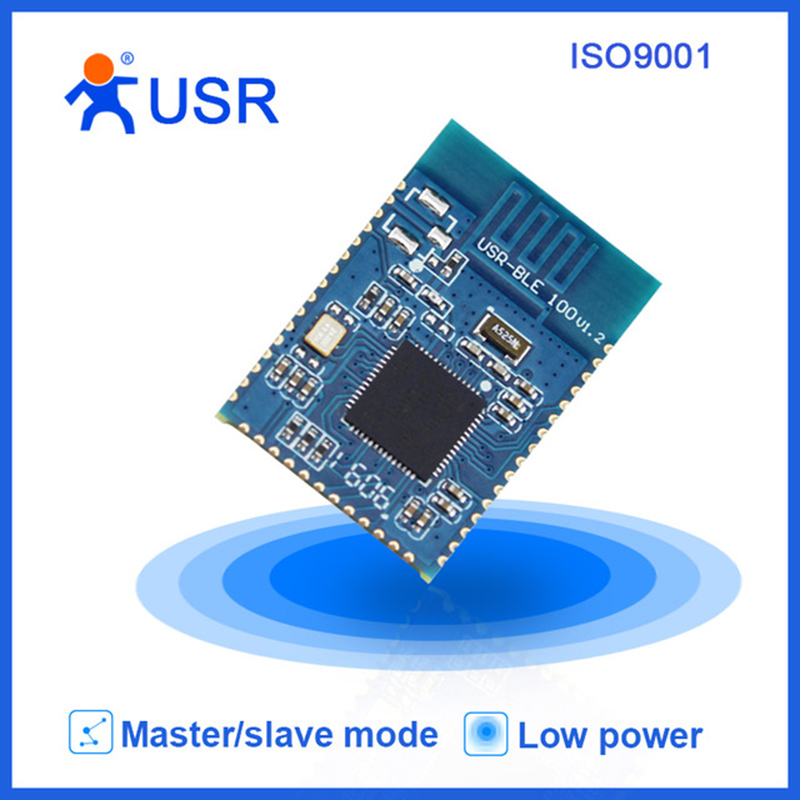 USR-BLE100 2pcs/lot Low Power Cheap UART V4.1 Bluetooth Module Master/Slave Mode Mesh/iBeacon Supported usr ble101 cheap uart ttl v4 1 bluetooth module master and slave mode supported built in ibeacon protocol 10pcs lot