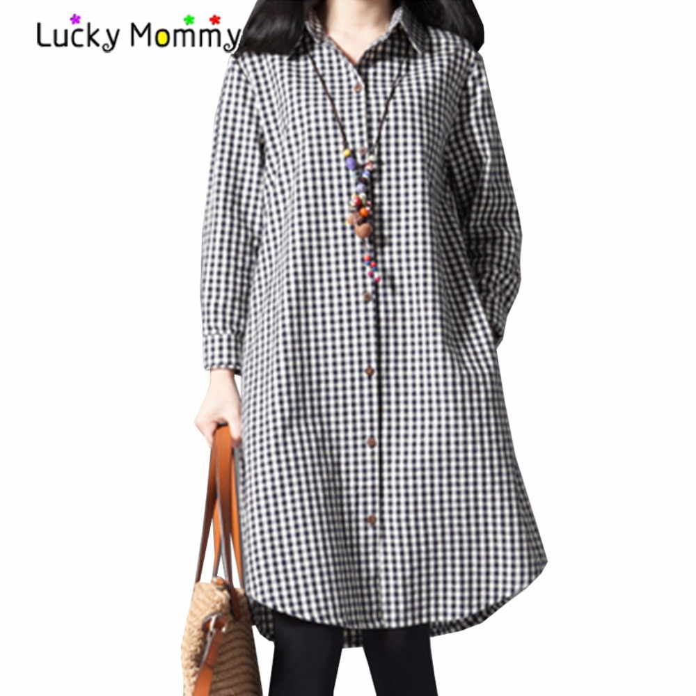 Fashion Plaid Casual Maternity-dress Red and Black Cotton Pregnancy Dress Autumn Dresses Pregnancy Clothes for Pregnant Women quality cotton linen maternity dresses autumn long sleeve clothes for pregnant women clothing for pregnancy 2017 new fashion