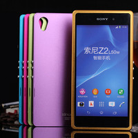 Luphie Fundas For Sony Xperia Z2 Hard Aluminum Alloy Frame Metal Back Cover Case For Sony