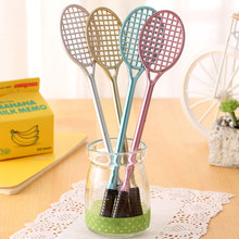 Badminton racket shape neutral pen kawaii stationery gel writing pens canetas material papelaria school supplies
