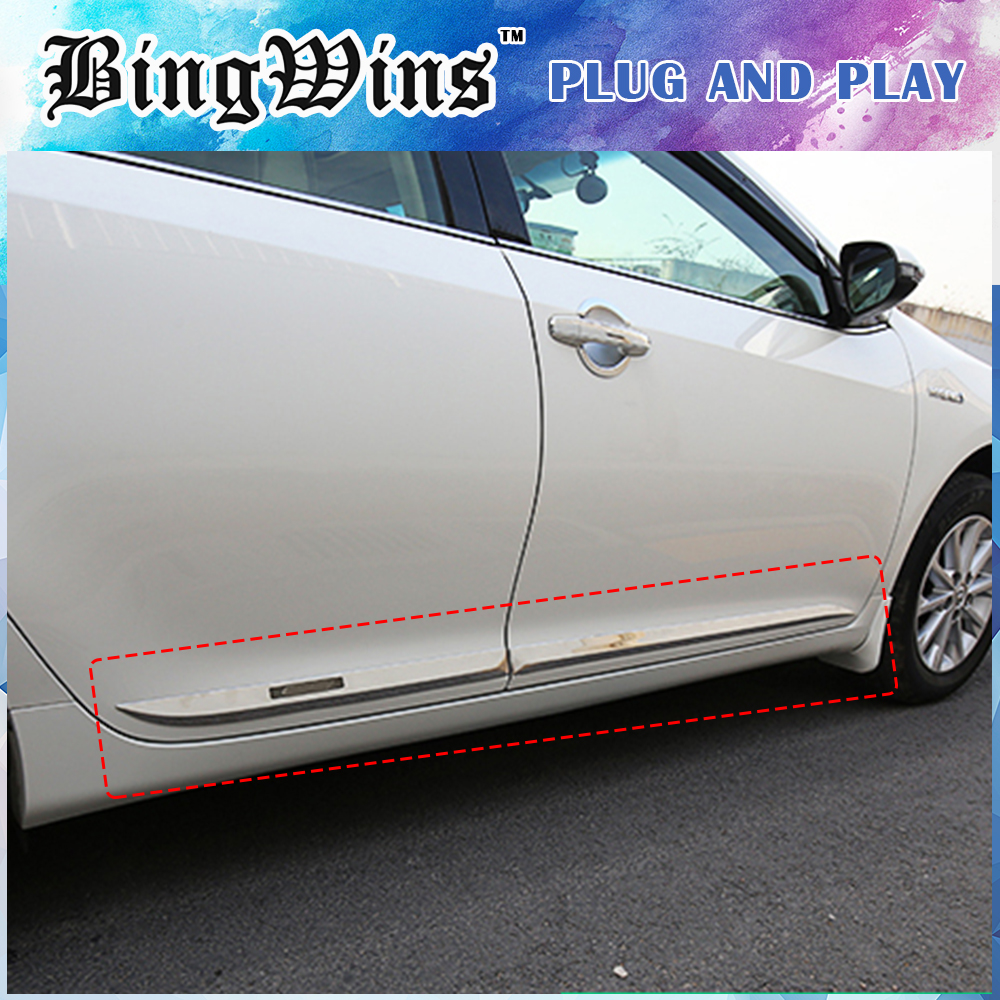 Car styling BODY TRIM For Toyota Camry V50 V55 2012-2017 SIDE DOOR BODY MOLDING TRIM COVER LINE GARNISH PROTECTOR ACCESSORIES