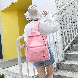 Image 5 - 2019 جديد الكورية طالب المدرسة الثانوية حقيبة الإناث أسود أصفر حقيبة من القماش للفتيات Bolsas Mochilas Femininas الظهر حقيبة
