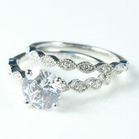 דקו מוצק 14 k זהב לבן תכשיטי פיין מסיבת להקת יהלומים טבעיים טופז נשים טבעת אירוסין